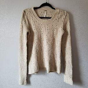 Free People Cozy Warm Knit Long Sleeve Sweater M